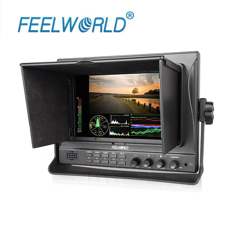 Feelworld 7 IPS 1280x800 Seamless Switch Dual 3G SDI Camera Field Monitor with Waveform Vectorscope Color Histogram FW789