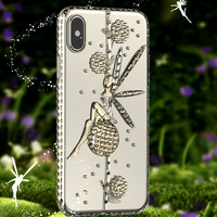 Luxury For Apple IPhone X Case Clear Cute Diamond Crystal Soft TPU Protective Cover IPhoneX Case