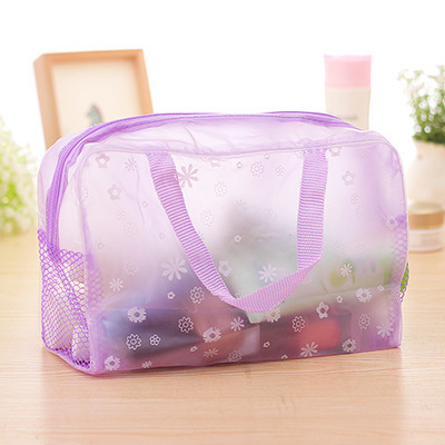New Korean Bag PVC Pencil Bag Environmental Protection Transparent Organizer Home School Storage Travel Supplies Gift Wholesale