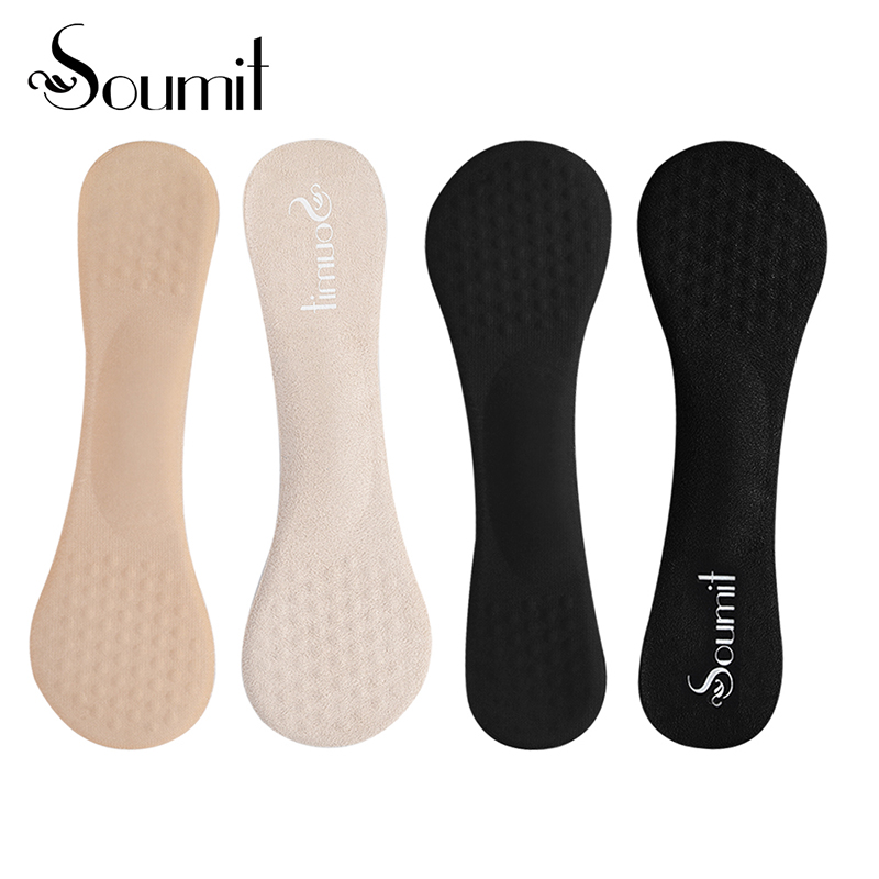 Soumit 2 Pair Massage Gel Women 3/4 Arch Support Insoles Anti-slip Metatarsal Cushion Pad Orthopedic Insole for High Heels Shoes soumit invisible five toe short socks insoles shoe pad for women high heels shoes insole