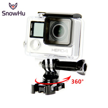 SnowHu for Go pro 7 accessories 360 Degree Rotate J-Hook Buckle Adapter Mount for GoPro Hero 7 6 5 4 xiaomi Yi eken sjcam GP203B puluz adapter mount for gopro hero 5 6 7 360 degree rotation bike aluminum handlebar mount screw for gopro hero 7