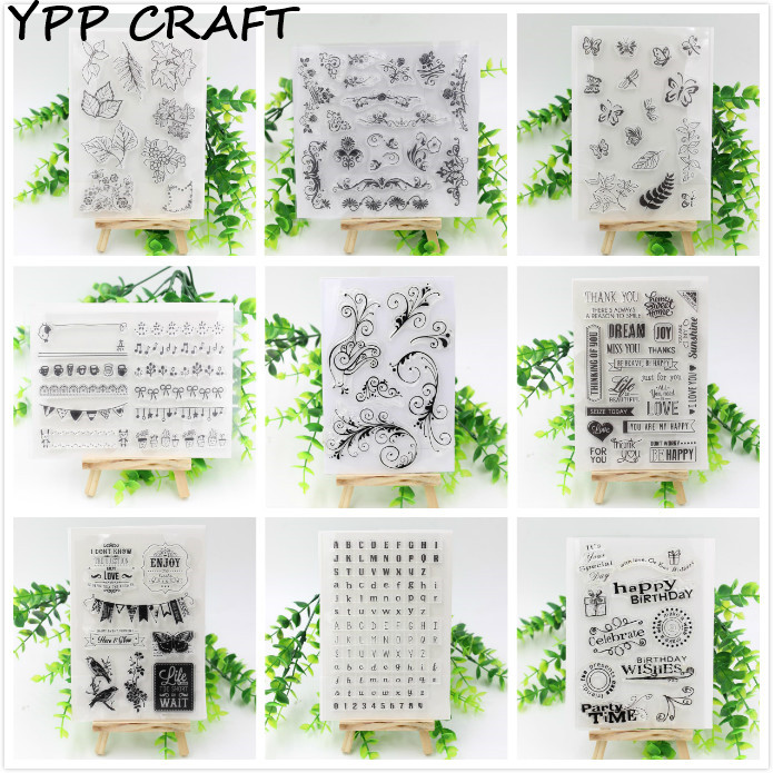 YPP CRAFT Cute Designs  Transparent Clear Rubber Stamp Seal Paper Craft Scrapbooking Decoration Projects s 2xl 2 colors 2015 new winter women down coat long slim turn down collar zipper jacket female belt pocket outwear zs308