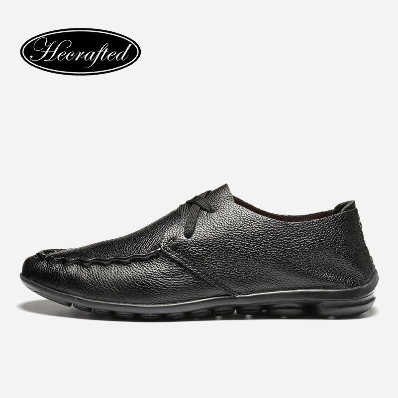 Handmade Genuine soft leather Men leather flats shoes 2018 autumn brand shoes   for men, Original Hecrafted men shoes #5128 genuine leather shoes men handmade