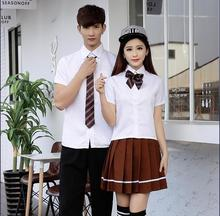 2018 new sailor suit students school uniform for teens preppy style cos uniform JK fashion Japanese Seifuku skirt shirt