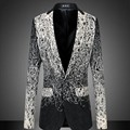 New fashion Mens Floral Printed Casual Business Suits Chaqueta  Fomal suit Blazer Coat Jacket Plus Size Oversized Jaqueta Kyptka