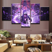 5 Panel Modular Picture Cartoon Characters HD Printed NARUTO Print Paintings Home Decoration Canvas Wall Picture