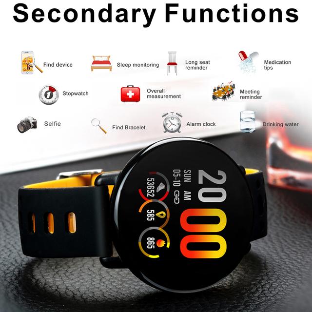LEMFO K1 2.5D Full HD 3D UI Touch Screen Smart Watch IP68 Waterproof Heart Rate Monitor