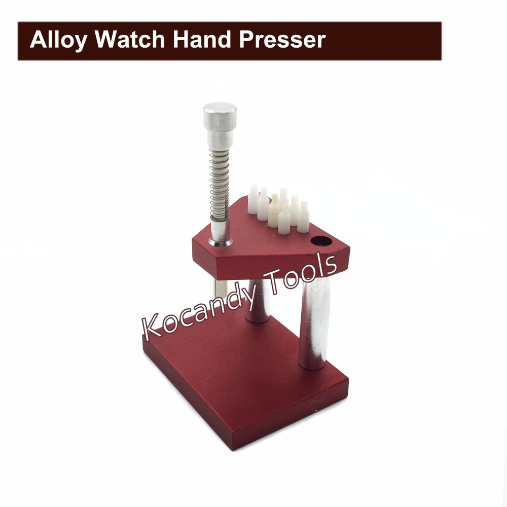 Alloy Watch Hand Presser Press Set Repair Tools Red for DIY Watchmaker