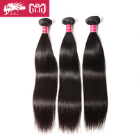 Ali Queen Hair Products 3pcs Lot Natural Color 8~30 In Stock Brazilian Virgin Hair Straight Human Hair Weave Bundles