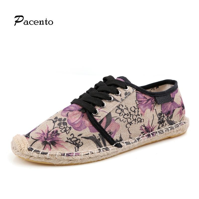 2016 PACENTO Novedades Hombre y Zapatos de Lona de Las Mujeres Planas Alpargata Ligero Frío Hombre