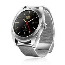 K89 Mode-stil SmartWatch Steel Track Armbanduhr MTK2502 Bluetooth Pulsmesser Schrittzähler Dialing Für Android IOS