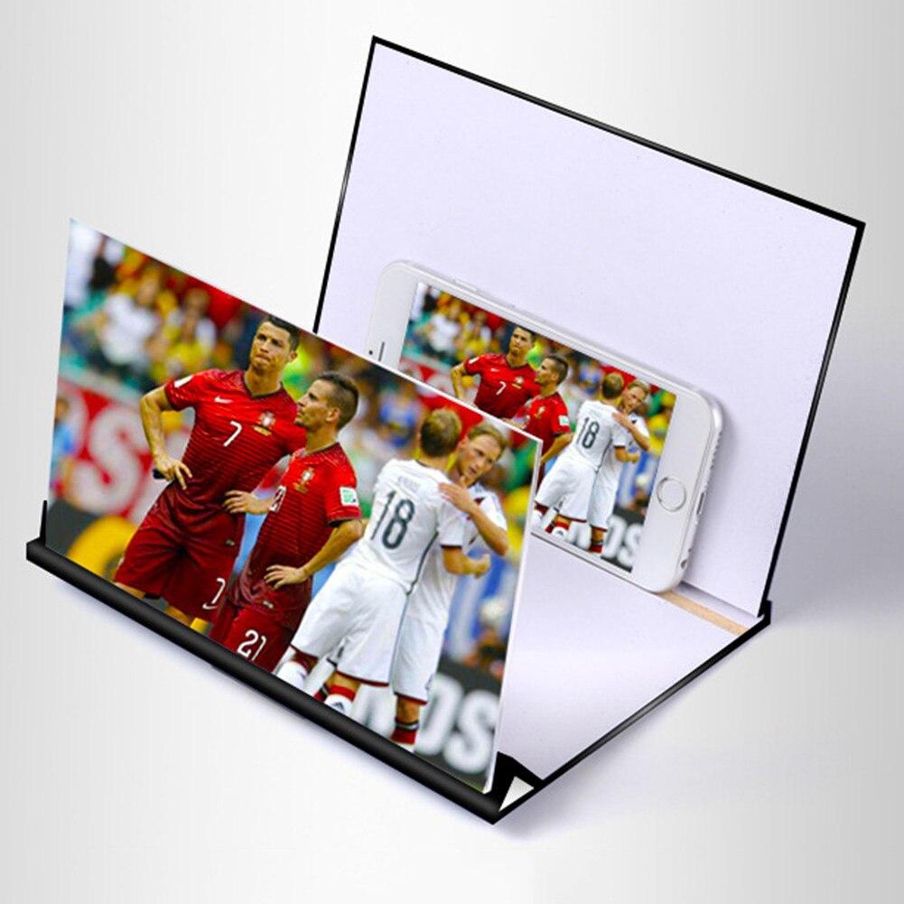 Amplifier Stereoscopic Amplifying Desktop Wood Bracket Mobile Phone Video Screen Magnifier Amplifier Holder Mount 1pc