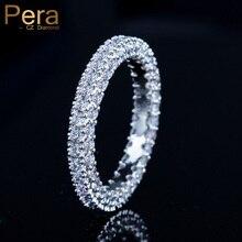 e7418f3f5 بيرا جديد الكورية أنيقة نمط الفضة اللون مجوهرات كبيرة جولة مكعب زركونيا  إعداد النساء اليومية حفلة موسيقية حزب خواتم ل هدية r077