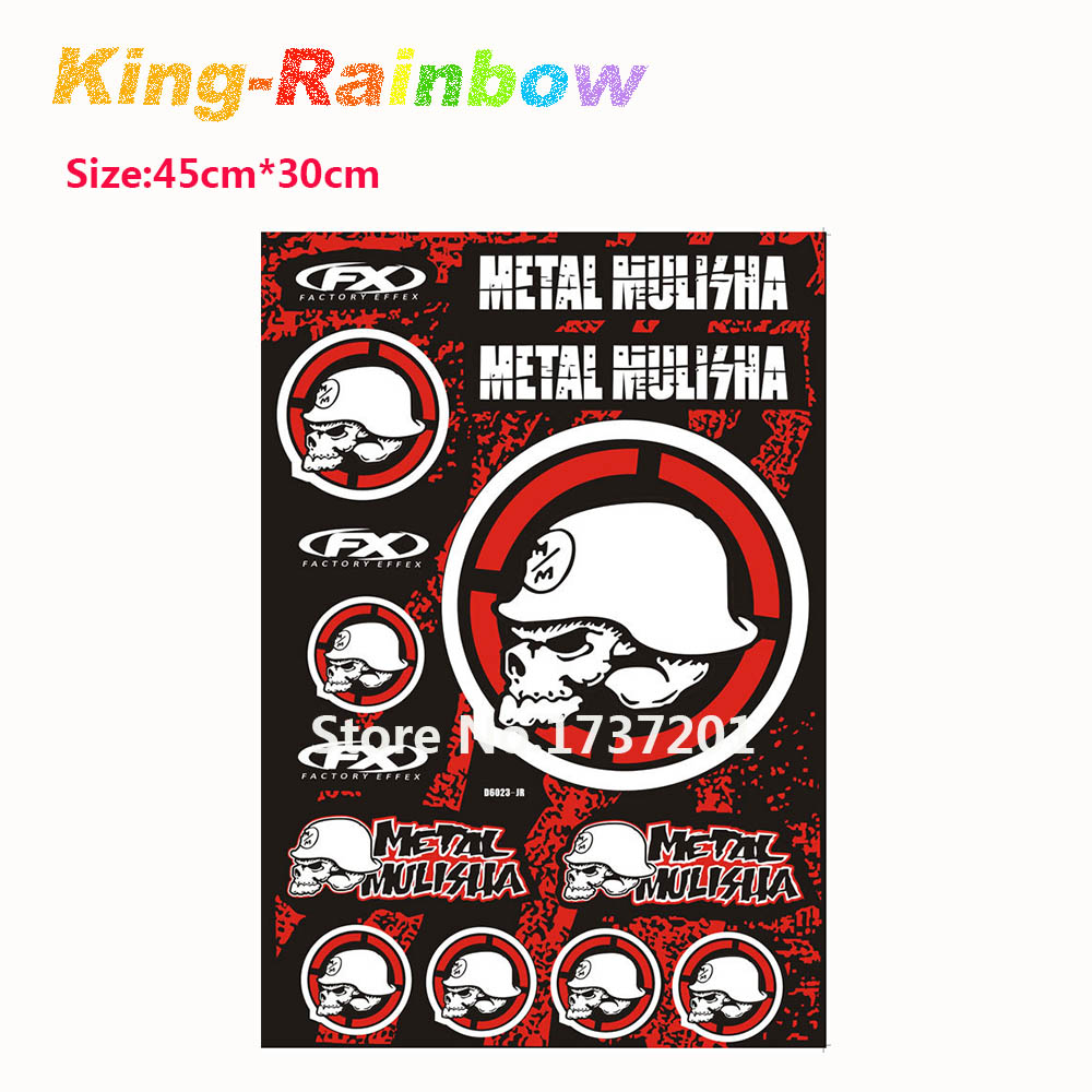 Big bike sticker design - Big Size 45cm X 30cm Skull Stickers For Motorcycle Bike Car Unit Scooter Funny Decals Stickers