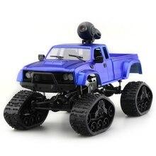 1/16 2.4G 4WD RC Mobil Truk Militer dengan Depan Lampu LED Mobil Balap Mendaki Remote Control Carro Off Road RC Mobil Listrik