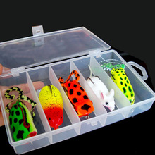 5pcs/lot Fishing Lure Frog Artificial Bait Fishing Tackle China Soft Lures Box Set