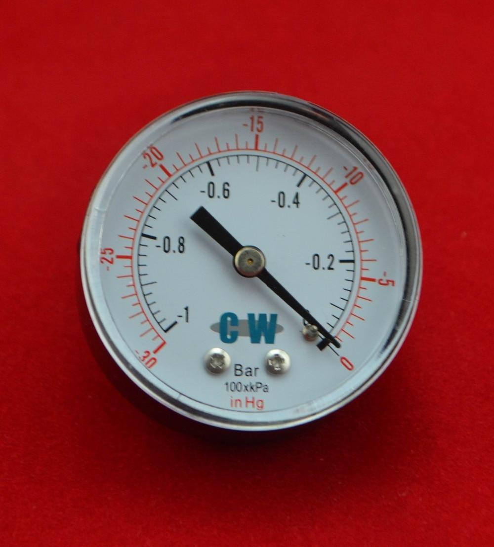 """2 """"50mm žalvarinis vakuuminis -1bar, -0,1Mpa, manometras, vakuumas 30 colių, 760 mmHg manometras, PT1 / 4"""" sriegis"""