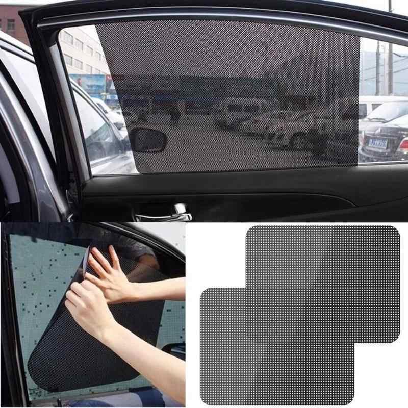 2Pcs Auto Lunotto Posteriore Sole Lato Ombra Copertura del Blocco Elettricità Statica Visor Shield Schermo Adesivo Auto Tende Da Sole Pellicola di Protezione finestra