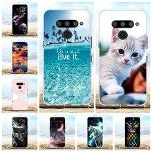 For LG V50 ThinQ 5G Case Soft TPU Silicone LM-V500N LM-V500EM Cover Animal Pattern Capa