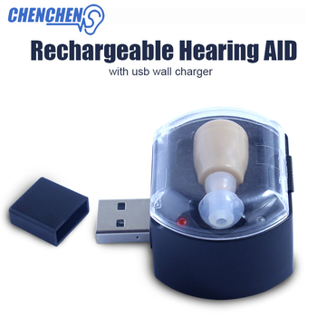 Low Noise Hearing AID Invisible design Sound Voice Amplifier Rechargeable Adjustable Hearing AIDS Ear Care Kit new product 2016 rechargeable hearing aid electronic sound amplifier s 109 free shipping