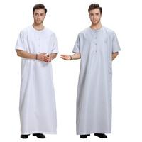 Fashion Muslim Clothing Men Robes Arab Dubai Indian Middle East Islamic Man Thobe Kaftan 7a43