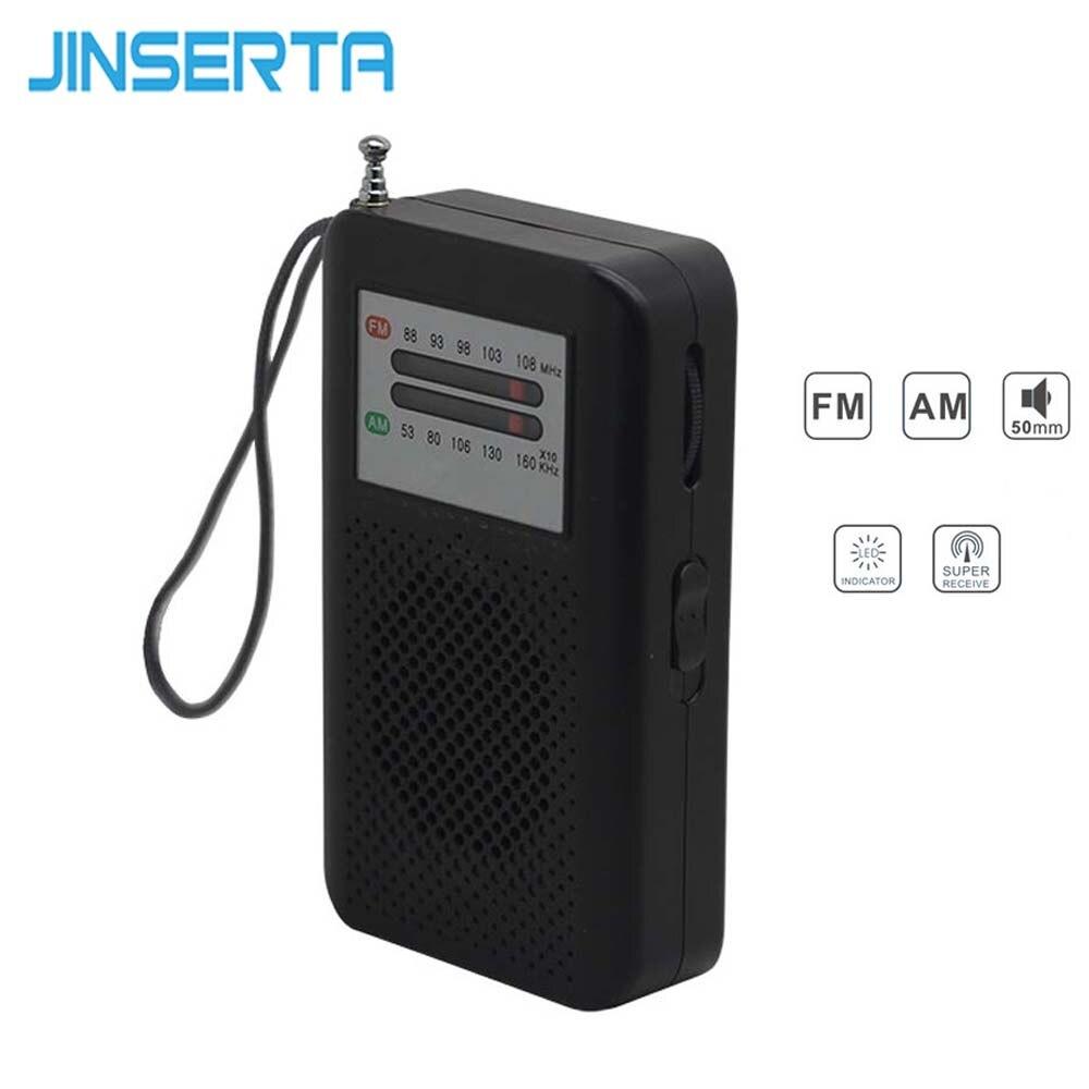 Vereinigt Jinserta Mini Fm Am Radio Tragbare Tasche Empfänger Lautsprecher Mit Kopfhörer Jack Tragbares Audio & Video Lanyard Beste Geschenk Für Eltern