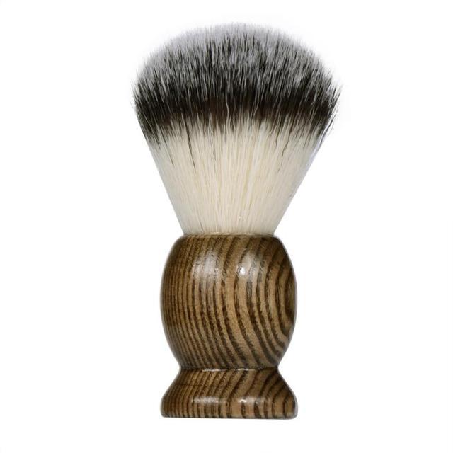 新しいセクシーな男性シェービングひげブラシ最高のアナグマ毛木製ハンドル剃り黒理髪ツール黒3JY10