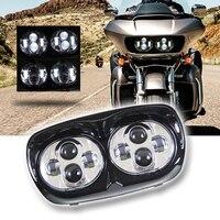 5.75 daymaker проектор двойной светодиодный мотоциклетные Фары для автомобиля для harley роуд Glide 2004 2013 Harley motorcyc; Le Интимные аксессуары