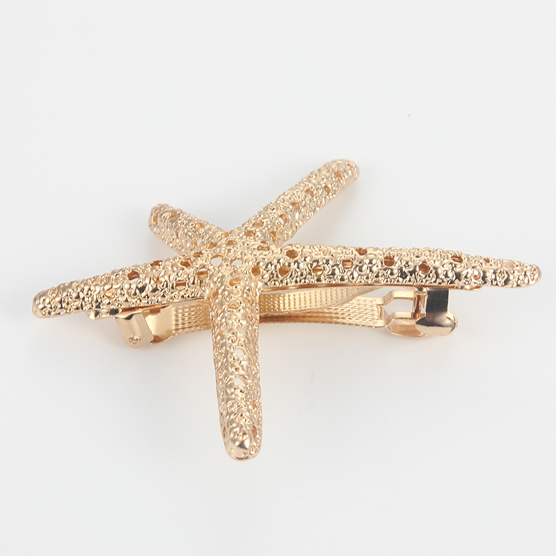 New Starfish Women Hair Clips Hairpins Hollow Metal Hairgrips for Women Hair Accessories Barrettes Hairgrip Hair Clip   Headwear