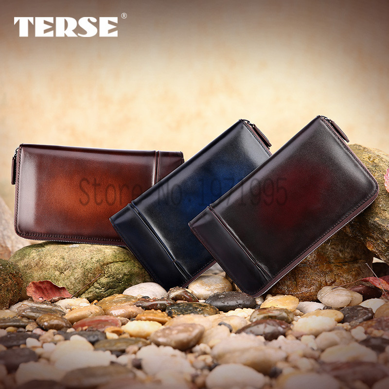 TERSE- Handmade Leather Mens Wallet, Italian Genuine Leather Mens Wallet, Real Leather Purse Men, Designer Leather Wallet