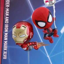 NEW hot 10cm 2pcs/set Avengers Spider-Man Homecoming iron Man Spiderman collectors action figure toys Christmas gift doll(China)
