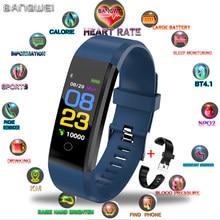 e8c218e8a BANGWEI 2019 ساعة ذكية الرجال النساء ساعة اليد جهاز مراقبة اللياقة الرياضية  عداد الخطى القلب معدل