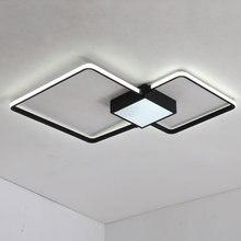 цены White Modern Led Ceiling Lamp Bedroom Living Room Light With Remote Control Decor Home Lighting Fixtures Black Metal lustre 220V