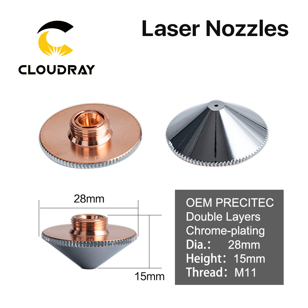 Cloudray Precitec H11 H15 Laser Nozzle Double Layers Dia.28 P0591-571-00001 For Precitec WSX FIBER Laser Cutting Head