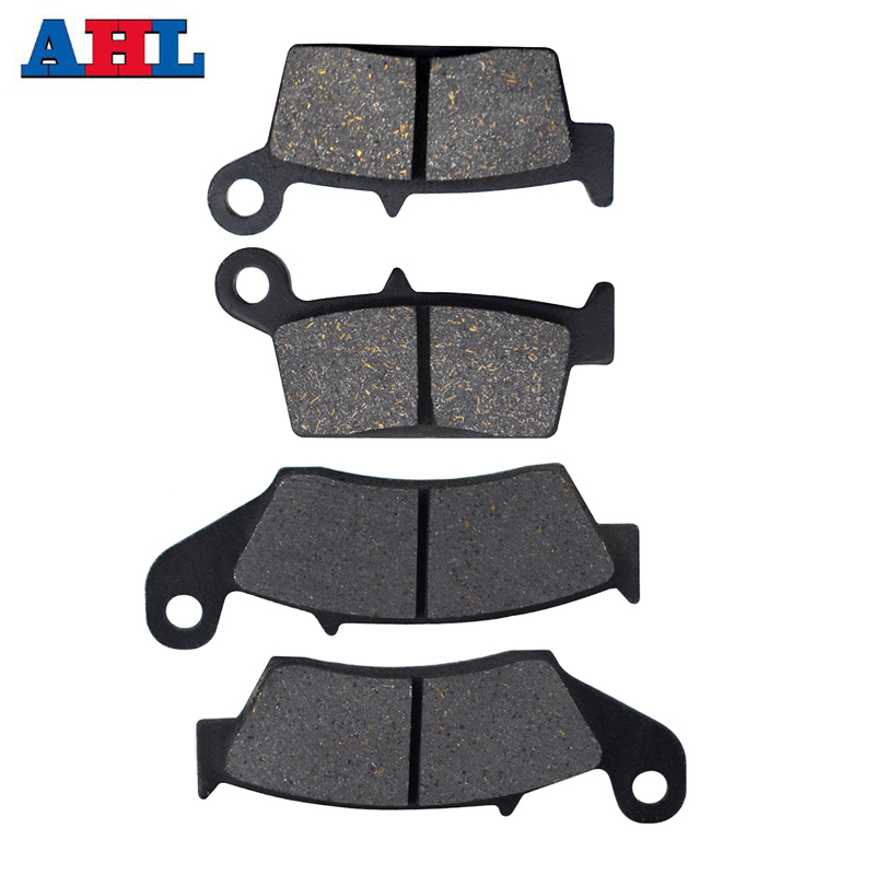 Motorcycle Front and Rear Brake Pads For Kawasaki <font><b>KX125</b></font> 1995-2008 KLX250 D - Tracker For HONDA XR600R XR650L XR650R image