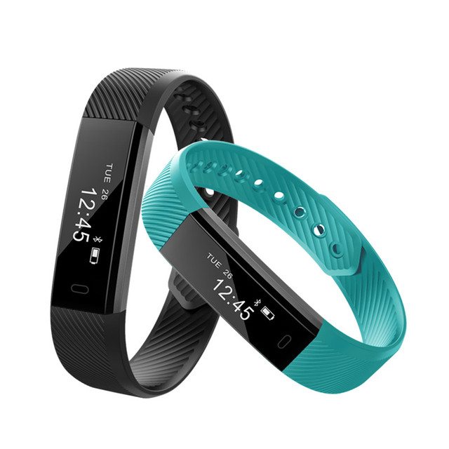 ID115 Smart Bracelet Fitness Tracker Smart Wristband Waterproot Smartband For IOS Android Good as FitBits Mi Band 2 ID107
