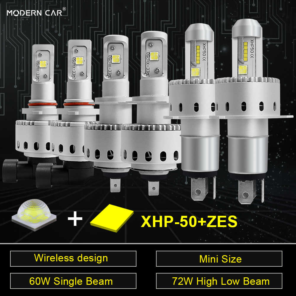MODERN CAR XHP50 ZES mini size auto headlight H1 H7 H4 H11 led headlight bulbs wireless design 12v headlamp light for 24v trucks
