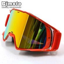 BJMOTO lunettes Oculos Off road de Motocross, masque de neige, de Sport, de cyclisme, moteur MX