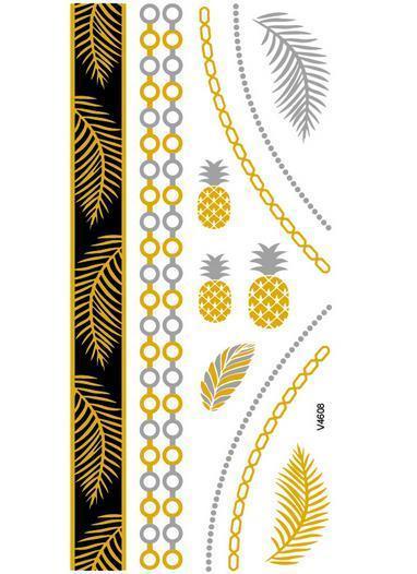 27f361984 Nontoxic hot tattoo stickers waterproof Leopard print color fantasy ...