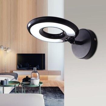 Светодиодный настенный светильник Современный минималистичный прикроватный настенный светильник для спальни гостиничная комната креати...