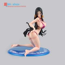 One Piece Anime POP Swimsuit Kneeling Female Emperor Ver Figurine PVC Bikini Boa Hancock Action Figure Collection Model Toys P45
