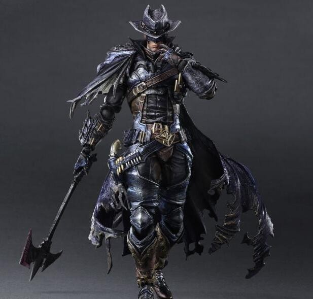 все цены на Japan newest SQUARE ENIX Play Arts KAI Batman Timeless Wild West Red Ver. PVC Action Figure Collectible Model Toy T5791 онлайн