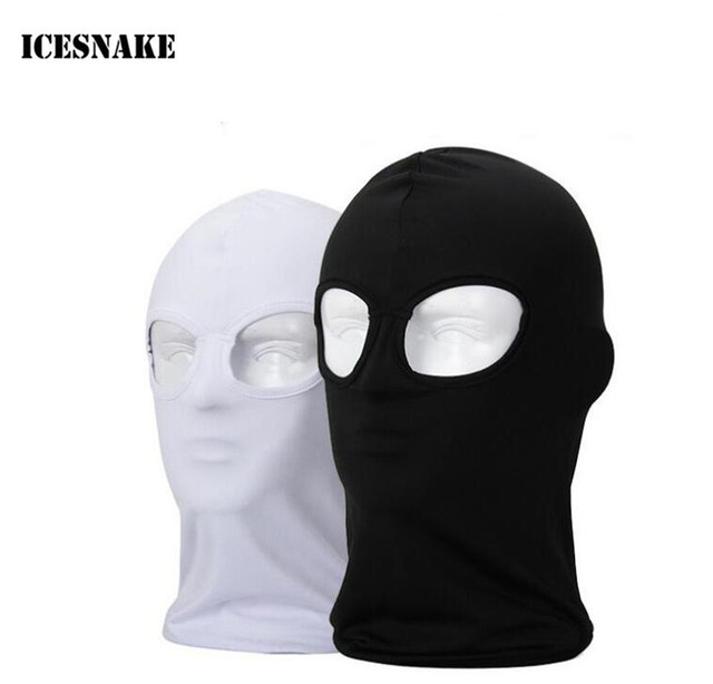 ICESNAKE 2 3 Hole Face Mask Balaclava Hat Ski Army Stocking Cap Beanie Hood  Motorcycle Bike Cycling Racing Shield CS Lycra ad5e0312814e
