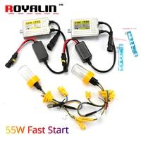 ROYALIN Xenon HID Bulbs Kit H1 12V 55W 0 1 Second Fast Bright F5 Quick Start