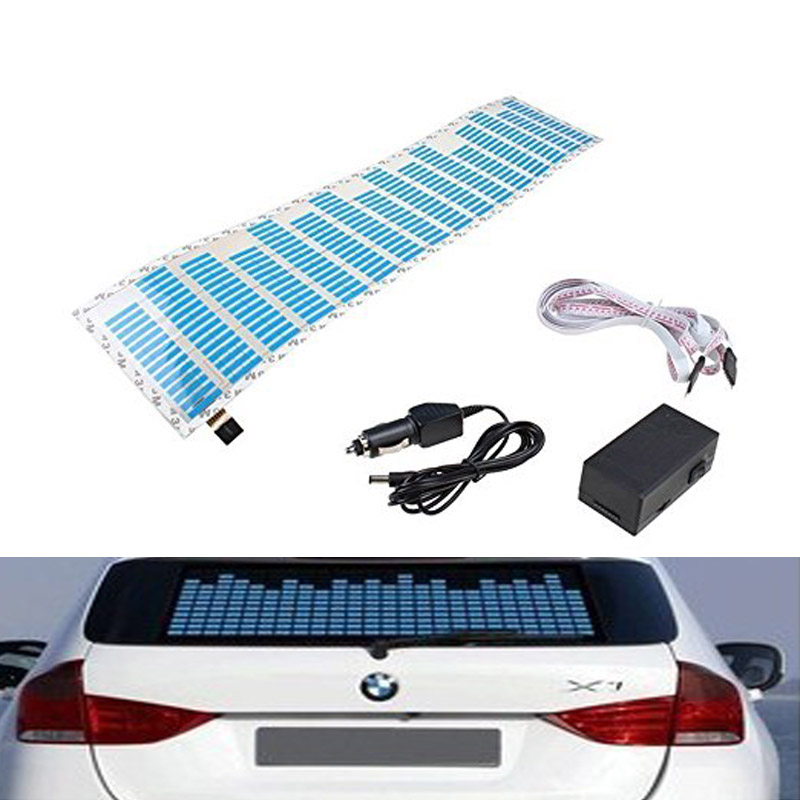 Sound Music Beat Activated Car Stickers Equalizer Glow Blue LED Light Audio Voice Rhythm Lamp кен бланшар дар лидера isbn 978 985 15 2533 7