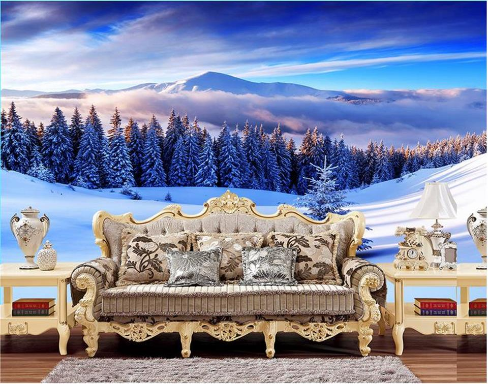 Compare prices on winter wallpapers online shopping buy for Custom mural cost