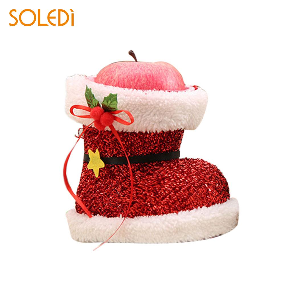 Christmas Shoes Gift Treat Candy Storage Pounch Bag Holder PVC Party Decoration ...