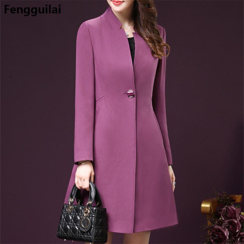 Korean Style Bodycon Plus Size Winter Women Wind Coats Elegant Fashion Office Ol Ladies Clothing 4xl