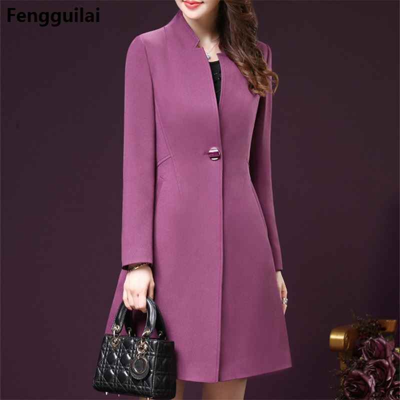 Koreaanse Stijl Bodycon Plus Size Winter Vrouwen Wind Jassen Elegante Fashion Office Ol Dames Kleding 4xl