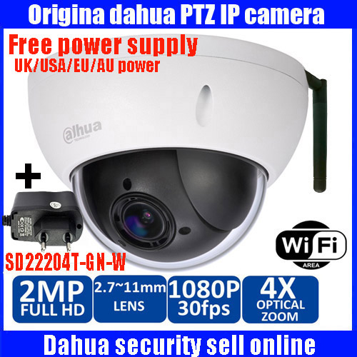 bilder für Original Dahua DH-SD22204T-GN-W Onvif 2,0 Megapixel IR Pan Tilt Dome Outdoor IP Drahtlose WIFI Ip-kamera SD22204T-GN-W freies power